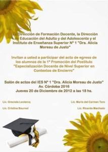 INVITACIÓN ACTO DEL POSTÍTULO ECE DIC 2012